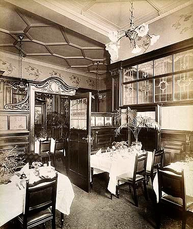 Ladies Tea Room of the Grosvenor (I wish someone would tell me how to pronounce that.) Virtual Exhibitions: Tea Rooms, Tea Party, Century Interiors, Art Nouveau Interior, Dinning Rooms, Reading Rooms
