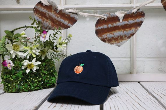 PEACH Baseball Hat Low Profile Embroidered by PrfctoLifestyle