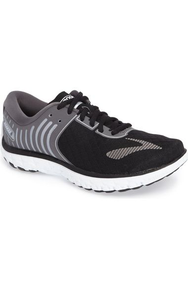 Brooks PureFlow 6 Running Shoe (Women) available at #Nordstrom #Winter #BlackAnthraceiteSilver