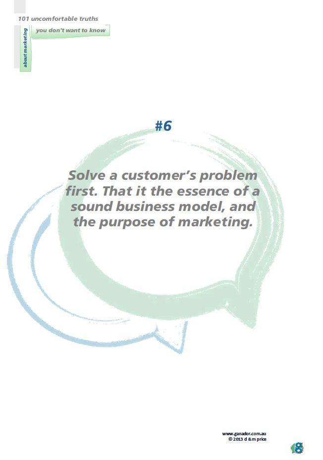 No 6 Solve a customer problem