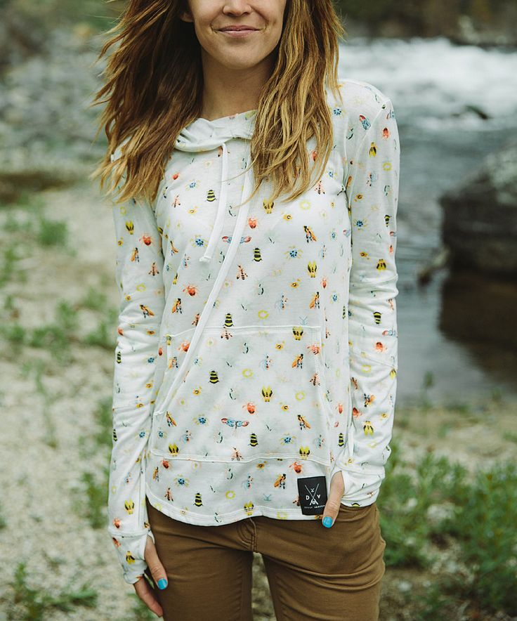 Love this Dolly Varden Outdoor Clothing White Bug Hoodie - Women by Dolly Varden Outdoor Clothing