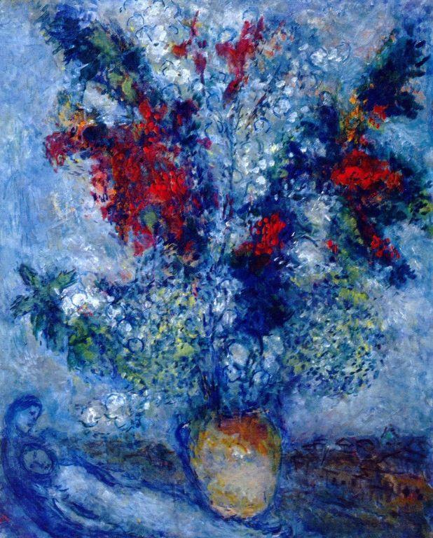 Flower Bouquet - Marc Chagall - 1982 - oil