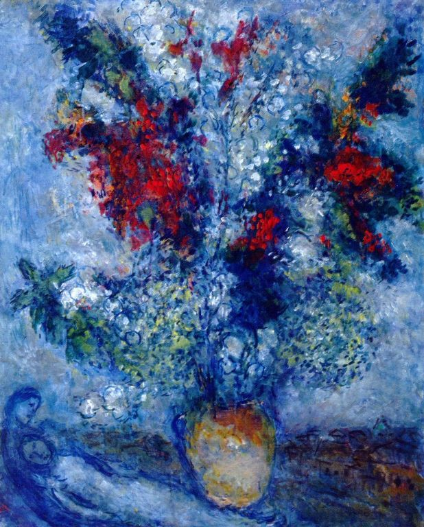 Flower Bouquet - Marc Chagall - 1982 - oil