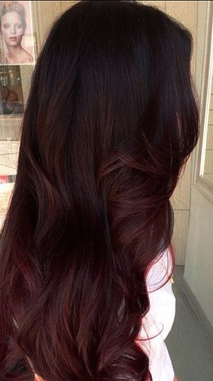 The subtle ombre I want, rich brown to red tones! (Edited by me)