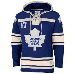 Men's Toronto Maple Leafs Old Time Hockey Royal Blue Home Lace Heavyweight Hoodie
