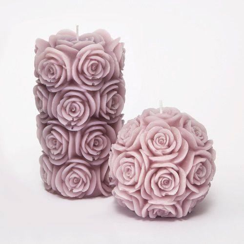 Dusty Pink Roses Candles Set