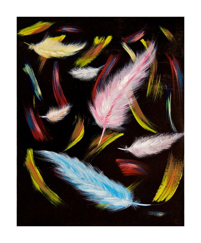 Figées 40x50 #tableau #peinture #plume