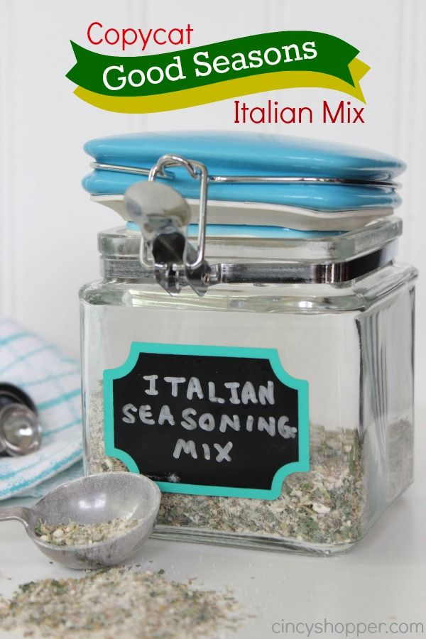 Copycat Good Seasons Italian Mix Recipe. I will no longer be purchasing pricey envelopes. Perfect for dressing and for cooking