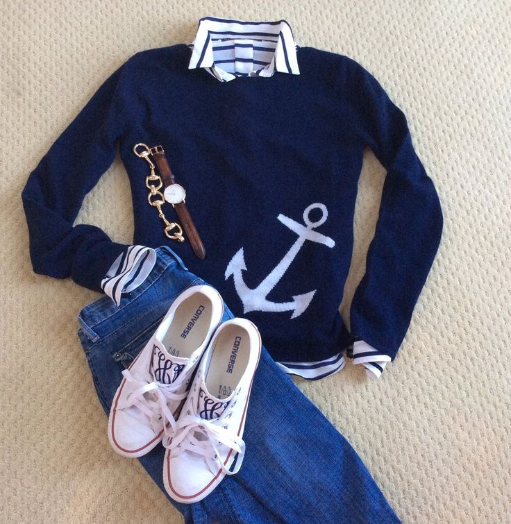 These 100% cashmere colorful anchor sweaters are always a great way to keep off a chill. Pair them with your white jeans for a nippy summer New England night- or mix with your jeans in the fall for a                                                                                                                                                      More
