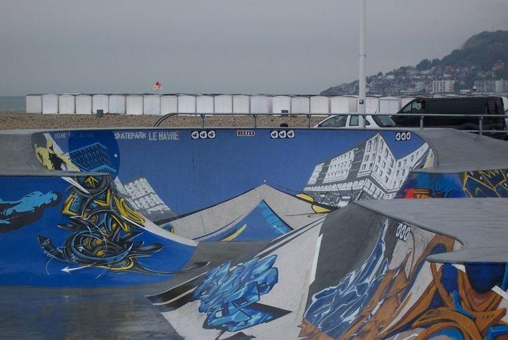 Spot : Bowl du Hâvre (76) - Plus de spots et skateparks sur www.spotsdeskate.fr
