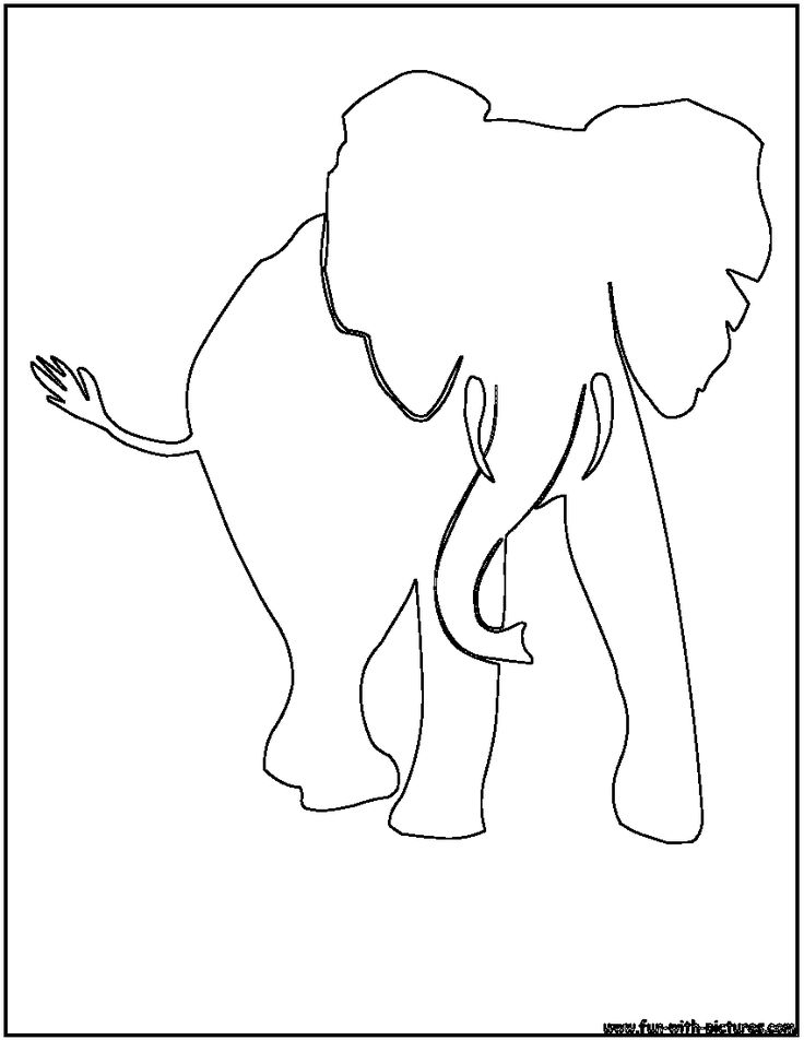 african elephant outline | Tattoo | Pinterest | Images of ...
