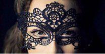 маска - кружево - 200 р.  Вышивка Черное Кружево Маска Леди Вырез Глаз Маска Маскарад Таинственные Маски.Маски