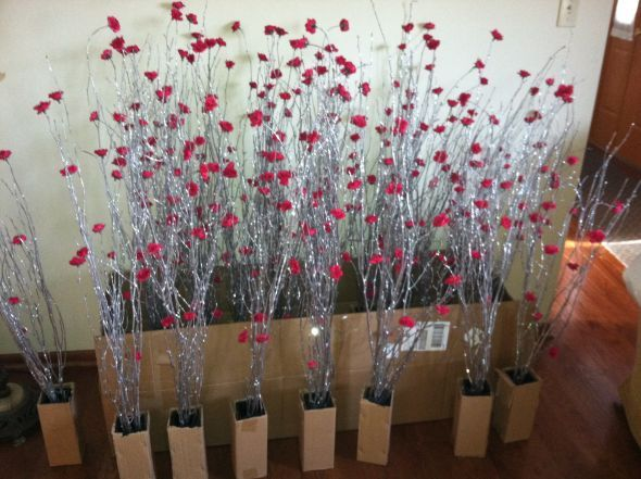17 ideas about twig centerpieces on pinterest stick for Twig centerpieces for weddings