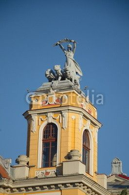 Top tower of the National Theater, Cluj-Napoca Romania