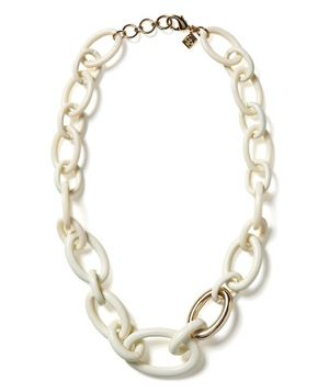 Cute white enamel chain necklace from Banana Republic