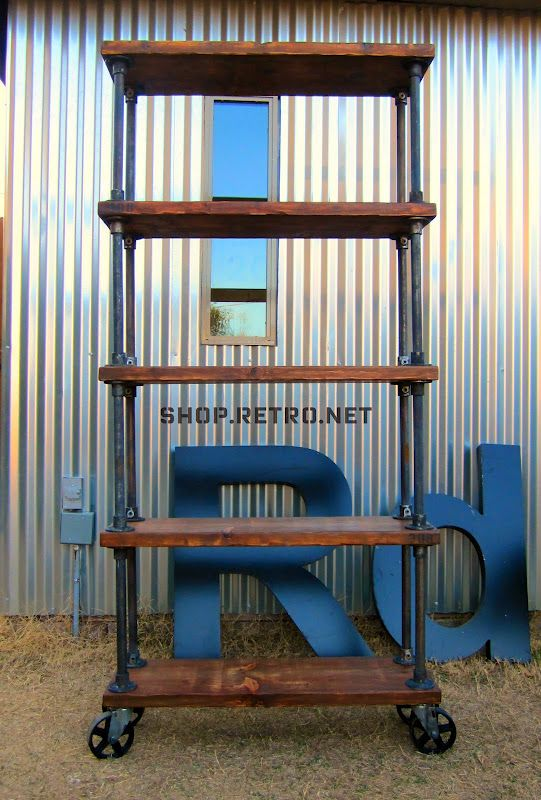 Vintage Industrial Pipe Shelving & Furniture - if you like the industrial look, this is the site for you!!! Lots of creative ideas & inspiration for the home & office.