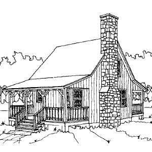 Cabin Plan and Blueprint - Saphire Cabin Plan Download Package