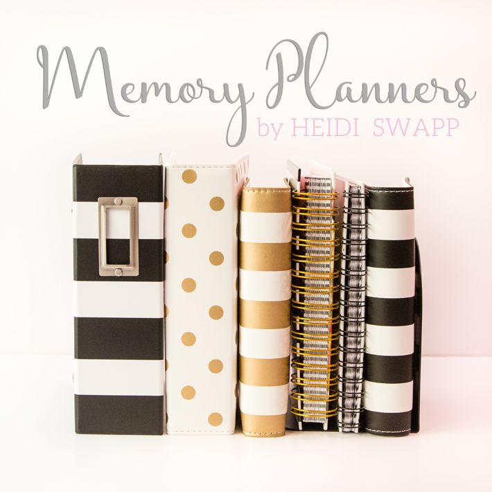 See the differences between @heidiswapp's 2016 Memory Planners and where you can get one!