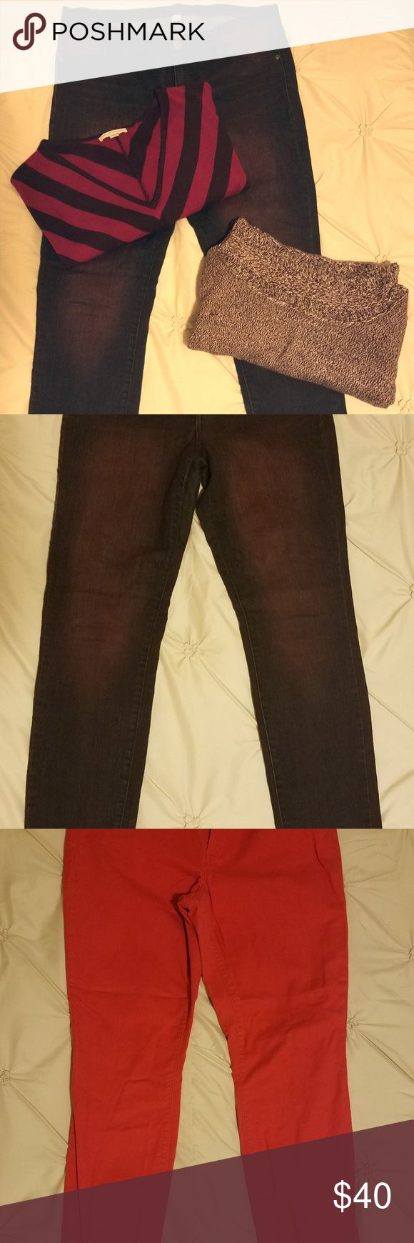 Colored Jeans New York & Company Burgundy Soho Skinny (stretch) Jeans GAP Red 32r Skinny (stretch) Jeans GAP Jeans Skinny