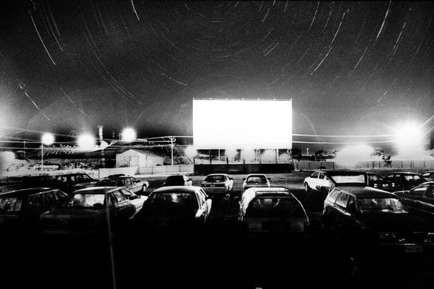 COOBER PEDY, Australia—A drive-in movie theater, 2003. Today's Pictures: Two Thumbs Up