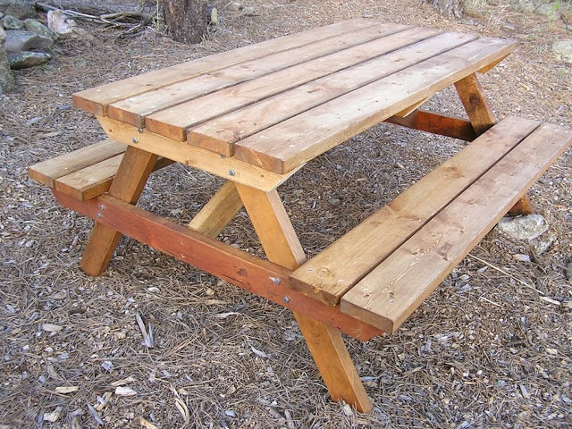 1000 images about garden picnic tables on pinterest for Wheelchair accessible picnic table plans