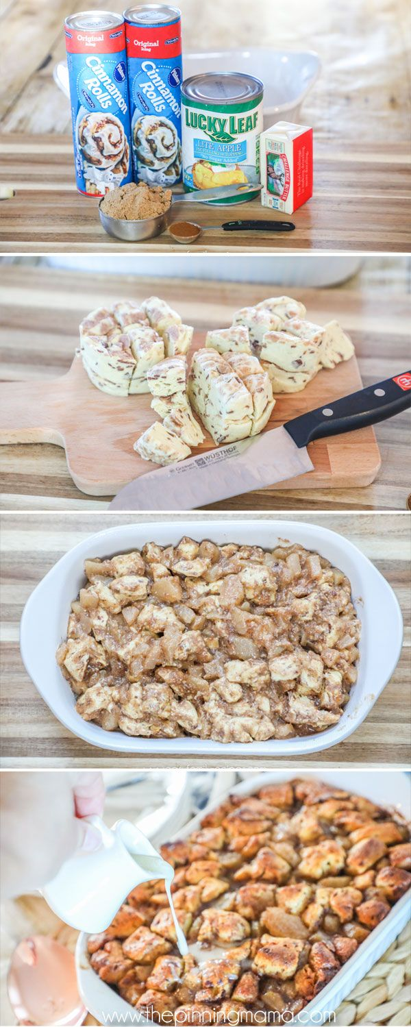 Apple Cinnamon Roll breakfast casserole
