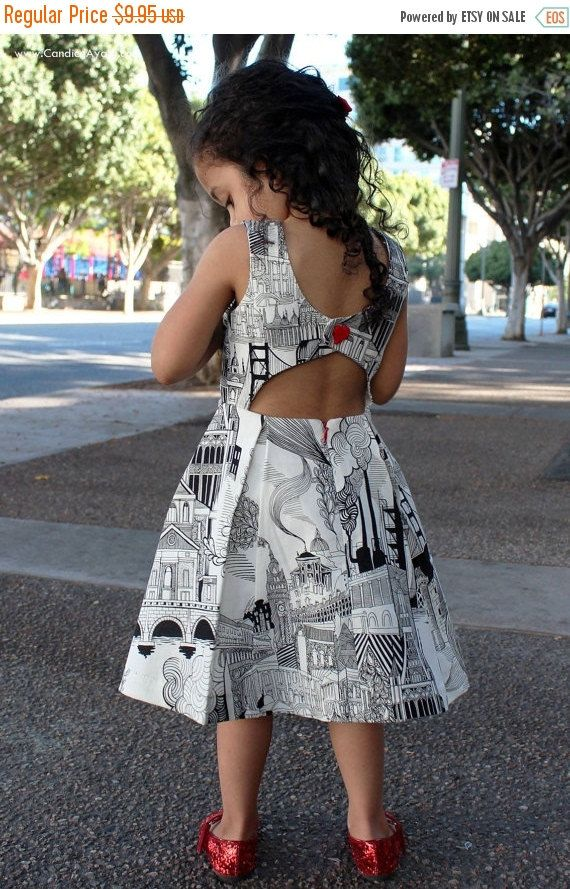 ON SALE: Rebel Girl Party Dress PDF Sewing por BellaSunshineDesigns