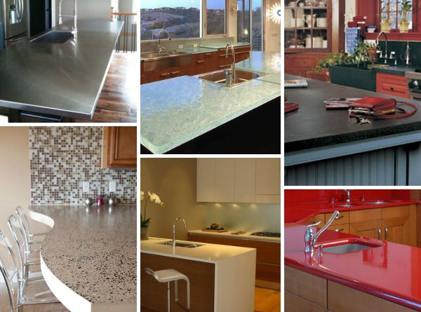 types of kitchen countertop trends