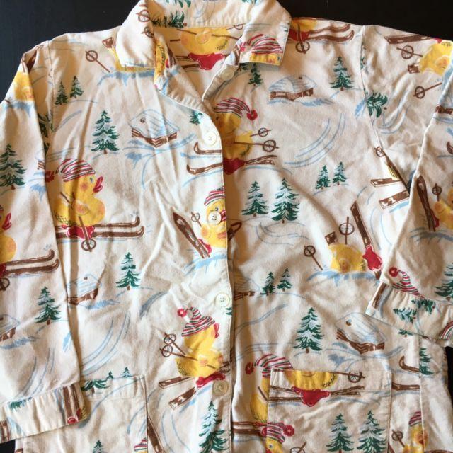 Nick And Nora Pajama Top Rubber Ducky Ski Cabin XL | eBay
