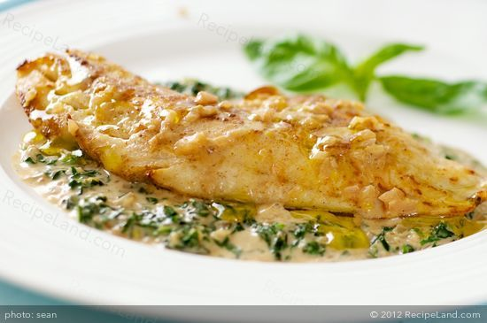 Pan fried Red Snapper fillets served with a quick creamy basil cream sauce. Quick, easy and super tasty.