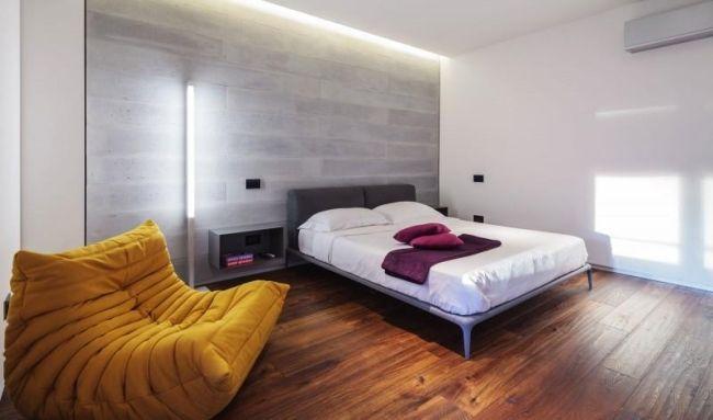 korridor spiegelschränke modernes appartement studio 1408