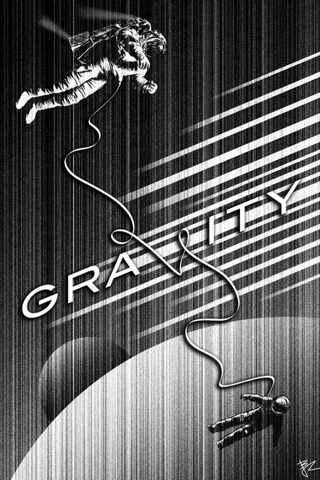 Still really need to see this, love this alternative poster idea. #gravity #film #poster