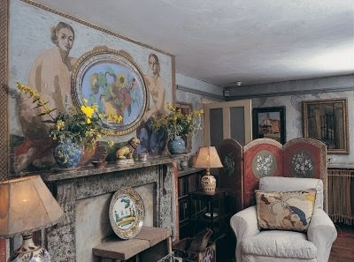 Lovely Bloomsbury  The Drawing Room At Charleston Farmhouse Sussex Decorated By  Vanessa Bell And Duncan Grant