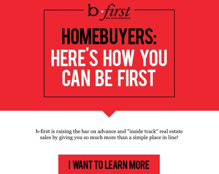 """Homebuyers: Here's how you can be first! b-first is raising the bar on advance and """"inside track"""" real estate sales by giving you so much more than a simple place in line! We invite you to join B-First Realty today! Click the link to learn more...http://conta.cc/2AJgwiW Join us on Twitter: https://twitter.com/bfirstrealty and Instagram: https://www.instagram.com/bfirstrealty/"""