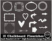 Chalkboard Frames Chalk Rustic Clip Art Wedding Clip art Banner clipart Chalkboard Arrows Rustic Chalkboard Flourishes Instant