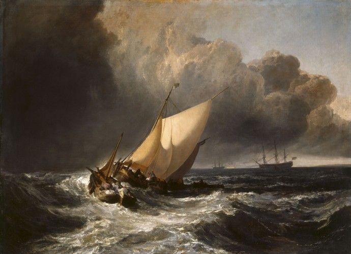 Joseph Mallord William Turner - Dutch Boats in a Gale - WGA23163 - Joseph Mallord William Turner — Wikipédia