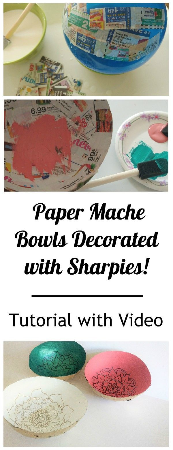 Boho Baby Decorate A Paper Mache Bowl With Markers With Video Instructions Cute Home Decor Accents