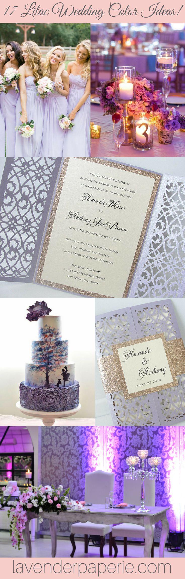 43 best Lilac Wedding Color Combinations images on Pinterest | Lilac ...
