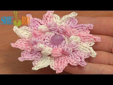 How to Crochet Flowers Free Patterns Tutorial 73 Crochet 12-Petal Flower - YouTube