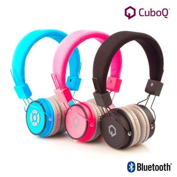 CUBOQ TRÅDLØSE BLUETOOTH Hodetelefoner, finnes i sort/hvit farge | Satelittservice tilbyr bla. HDTV, DVD, hjemmekino, parabol, data, satelittutstyr