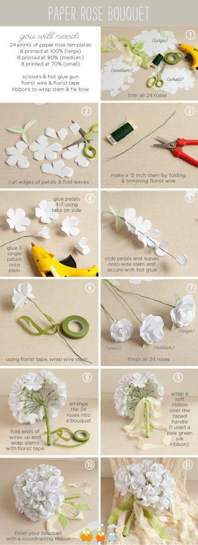 Flores de papel para bodas.