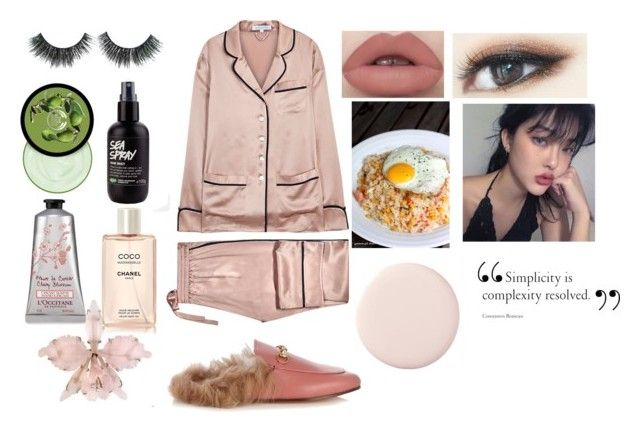 """""""Early Morning Breakfast"""" by guccigirlforeva on Polyvore featuring Olivia von Halle, Gucci, The Body Shop and Chanel"""