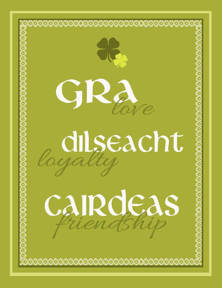 For my Gaelic children.  ; )