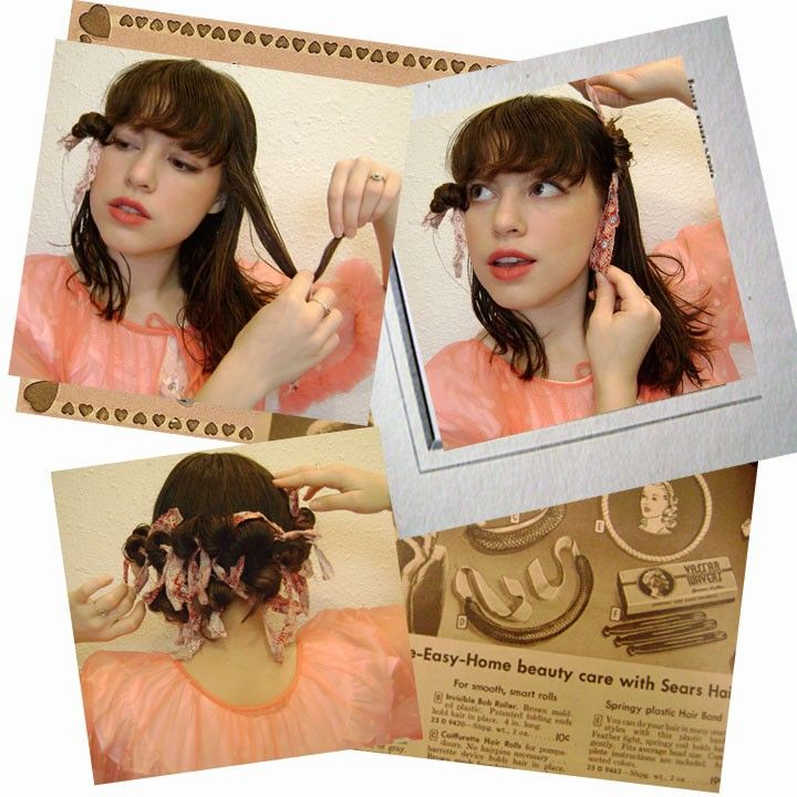 Rag curls tutorial. Takes some practice, but at least you're not hurting your hair with heat.