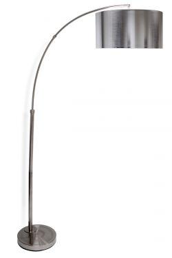 Silver arc floor lamp