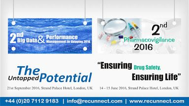 @Recunnect welcomes each and everyone to participate in all the prestigious #events  going to be conducted in the year 2016. More details please find us at: http://www.recunnect.com   1. 2nd #Pharmacovigilance   #Conference 2016 2. 2nd #BigData  and Performance Management in #Shipping  2016