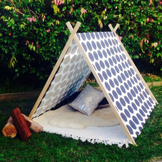 Doesn't have to be for kids! I need one of these! Kids indoor and outdoor A frame tee pee by MissLoveandi on Etsy, $160.00