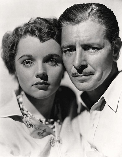 Jane Wyatt and Ronald Colman by Vintage-Stars, via Flickr