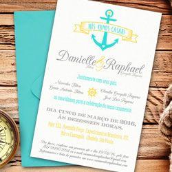Convite náutico #Casamento #Nautico #Praia #Anchor #Ancora