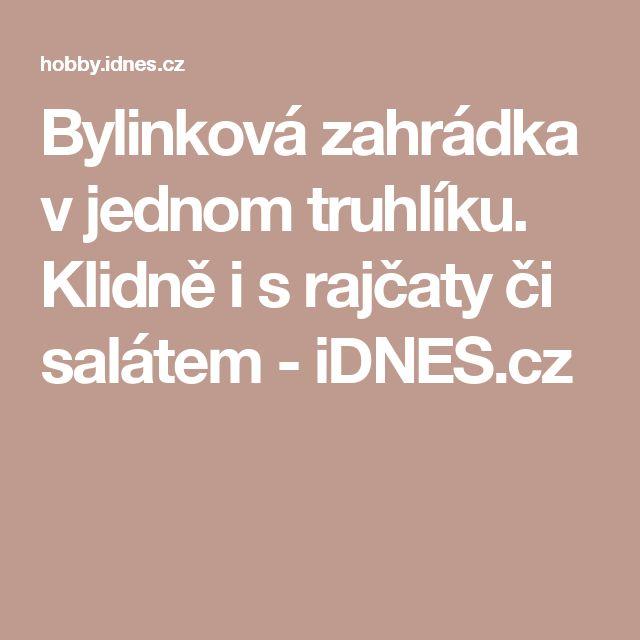 Bylinková zahrádka v jednom truhlíku. Klidně i s rajčaty či salátem - iDNES.cz